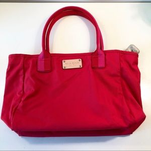 Kate Spade Nylon Tote with Pink and Red Handles